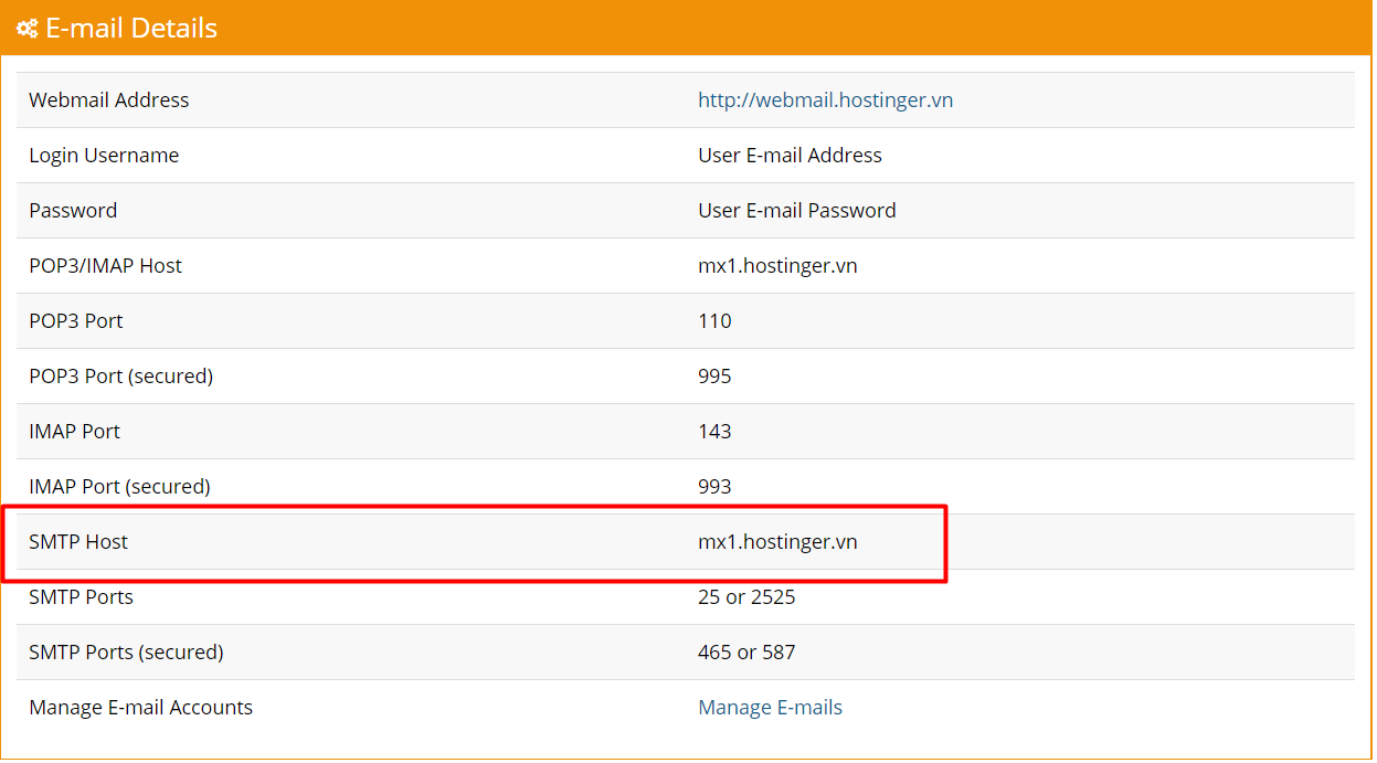 Hostinger MX record mail server