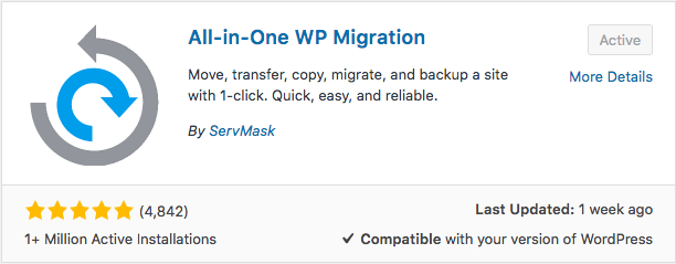 all in one wp migration plugin