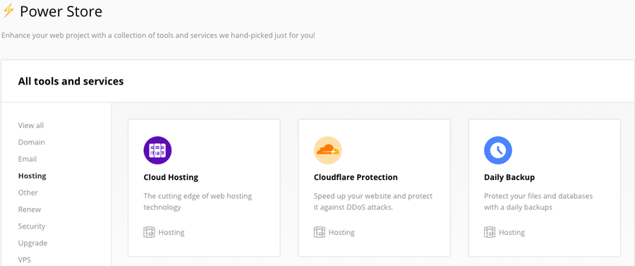 Cloudflare module trong Hostinger