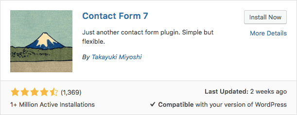 contact form 7 plugin wordpress