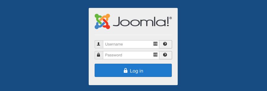 đăng nhập joomla