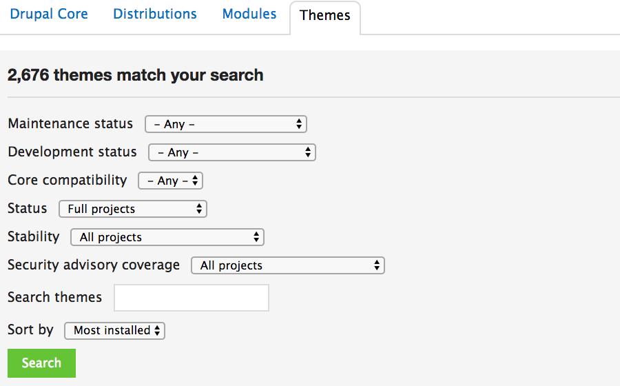 drupal theme repository chính thức