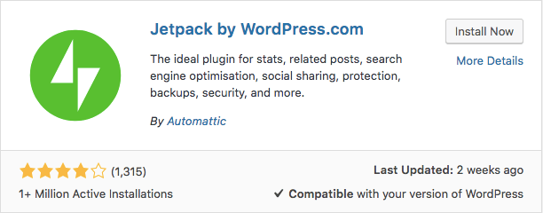 jetpack plugin WordPress