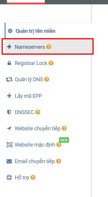 nameserver domain mắt bão