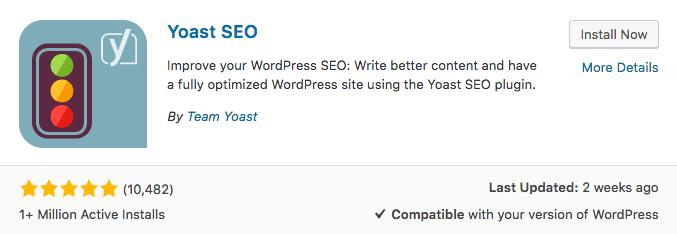 cài đặt seo yoast plugin