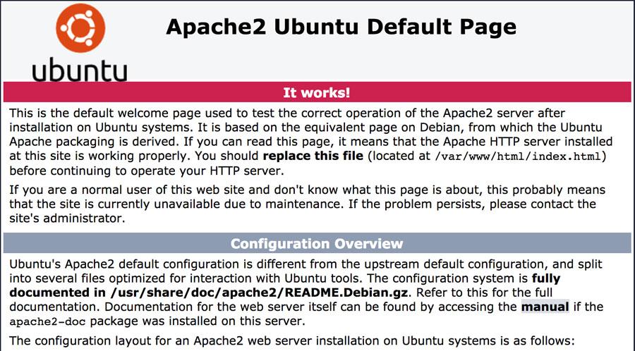 Trang apache ubuntu
