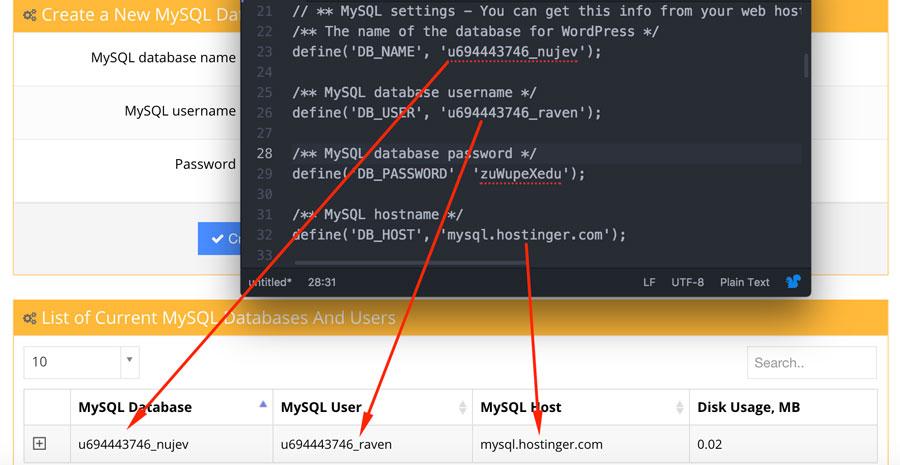 Kiểm tra thông tin đăng nhập mysql database với wp-config
