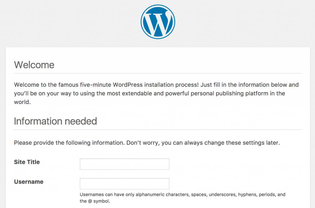 cách tạo blog - Cài đặt WordPress