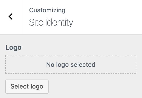 dieu chinh logo - Cách tạo blog WordPress