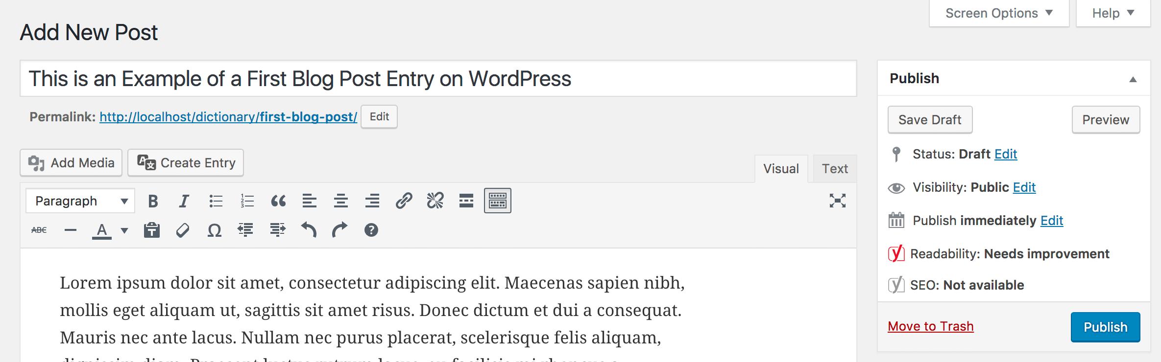 post xuat ban - Cách tạo blog WordPress