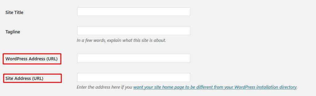 đổi địa chỉ WordPress