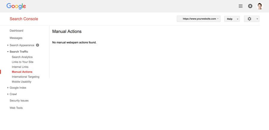 Gửi yêu cầu xem xet Google Search Console