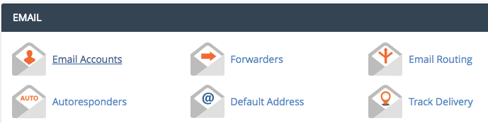 Mục email account trên cpanel 11