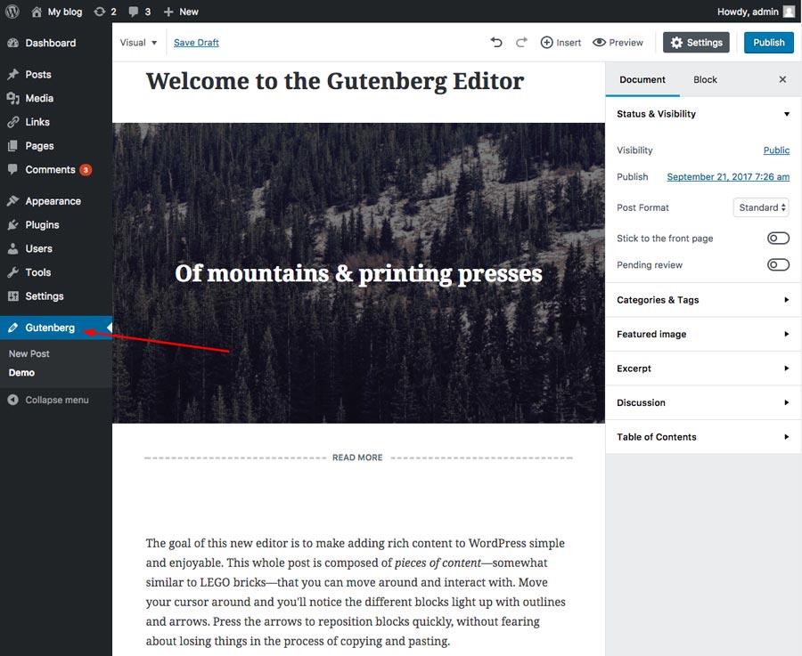 Trang mẫu Gutenberg
