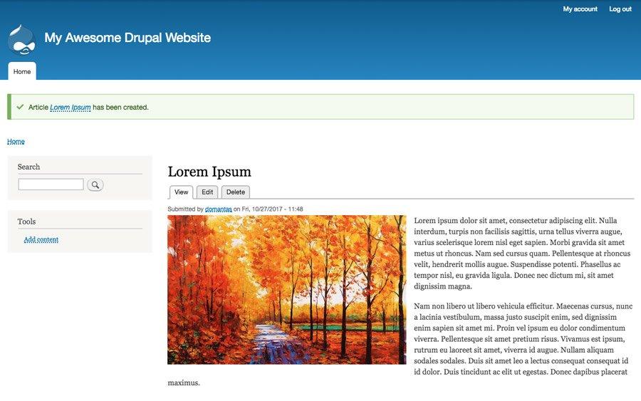 Xuất bản bài viết trên Drupal