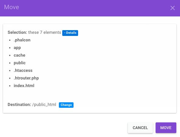 chuyển phalcon ra public html