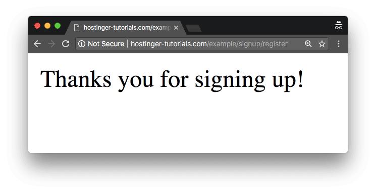 phalcon framework sign up thành công