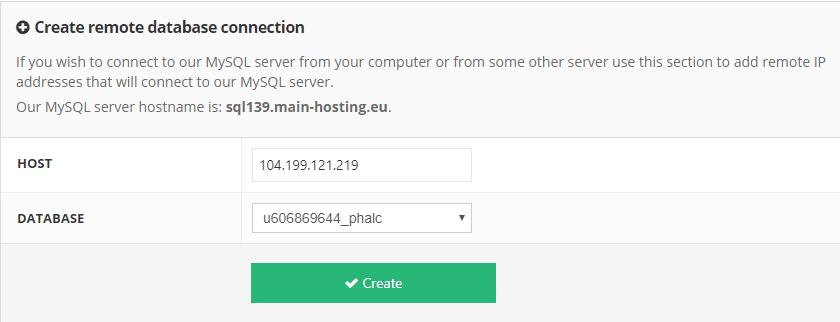 thêm địa chỉ IP để kết nối mysql từ xa