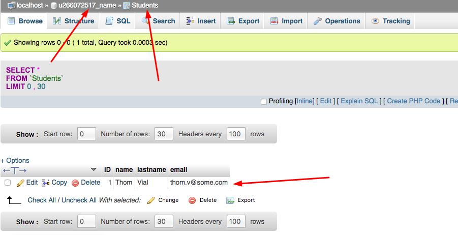 Hostinger phpmyadmin php insert trong mysql