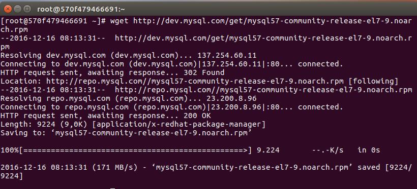 Cài đặt MySQL repository CentOS