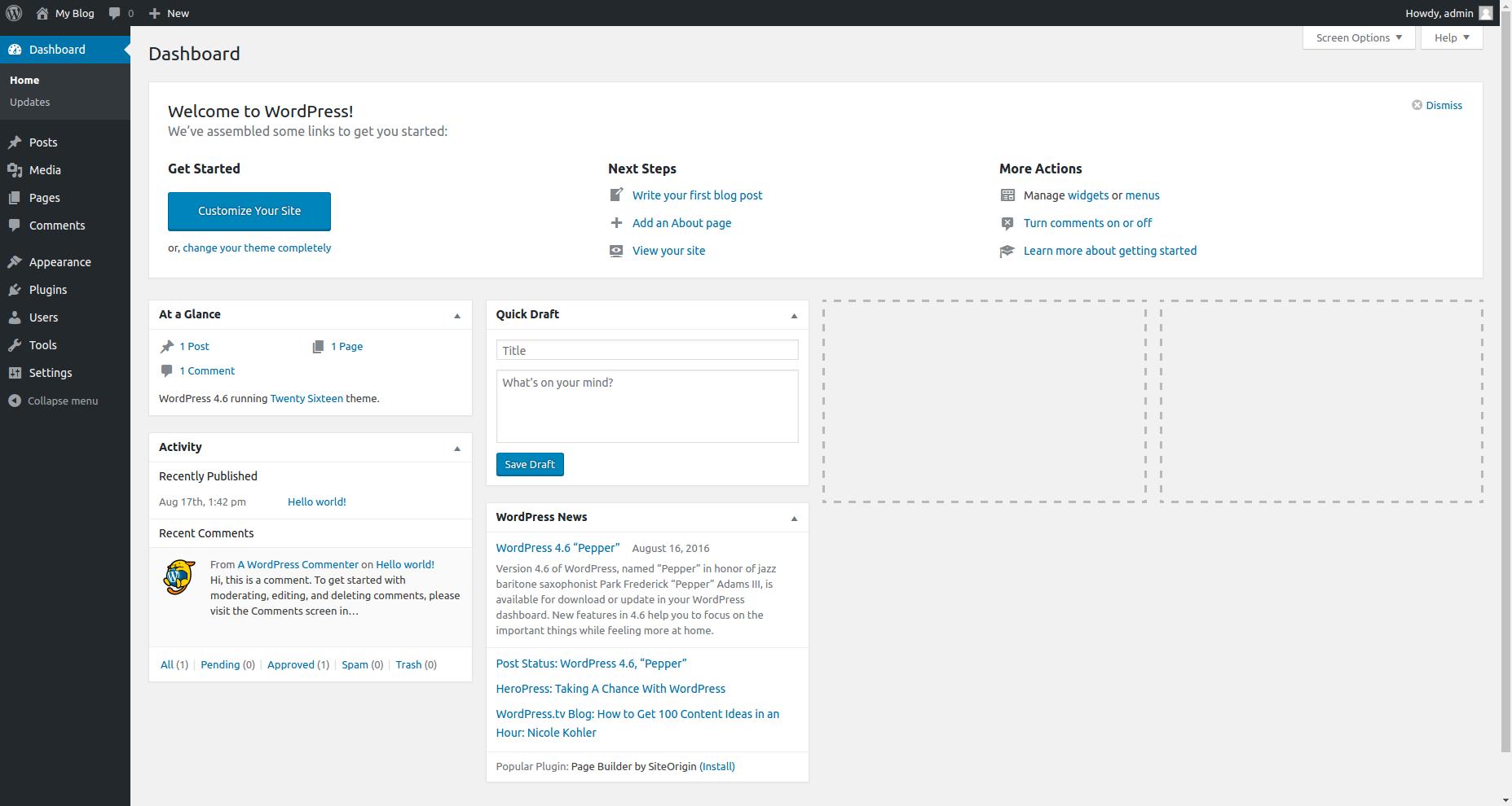 đăng nhập-bảng điều khiển-wordpress