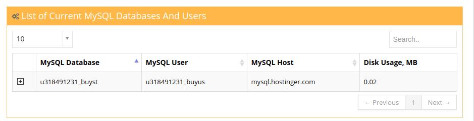 database hostinger