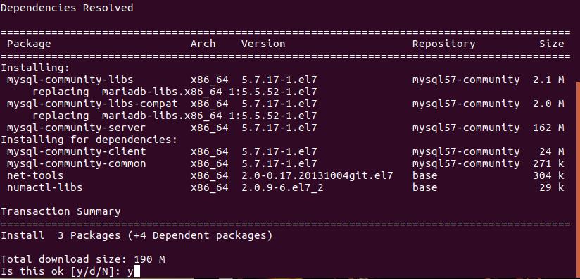 Hướng dẫn cài đặt MySQL trên CentOS 07