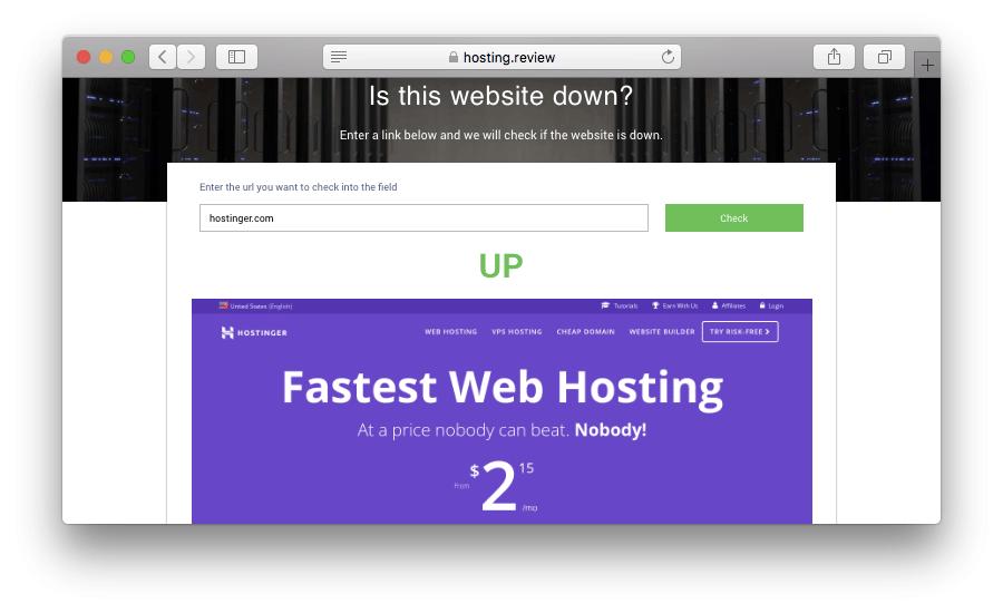 kiểm tra website có bị down hay không