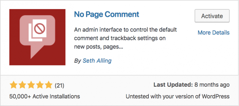 no page comment plugin trong wordpress