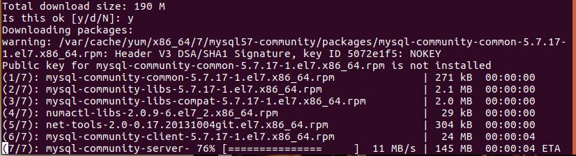 Quá trình cài đặt MySQL trên CentOS 7