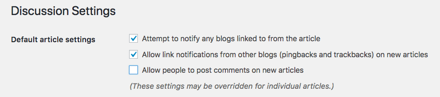 Cách tắt comment trong wordpress