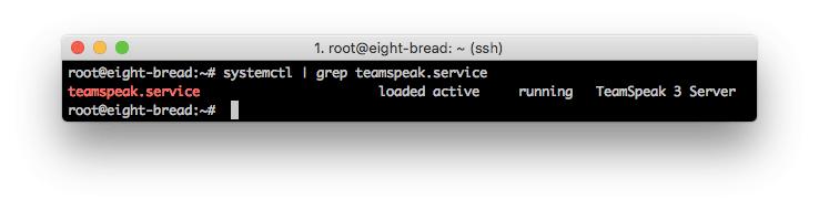 teamspeak 3 server đang chạy