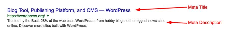 Ví dụ meta description và meta title wordpress post