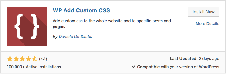 Wp add custom css wordpress plugin