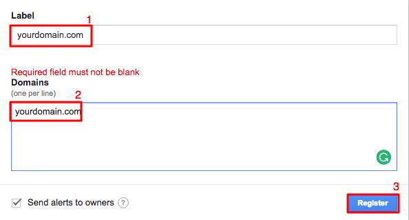 Đăng ký google recaptcha trên trang admin