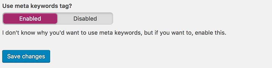 Sử dụng meta keywords trong yoast