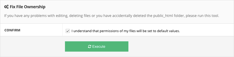 fix file errors and directory permissions