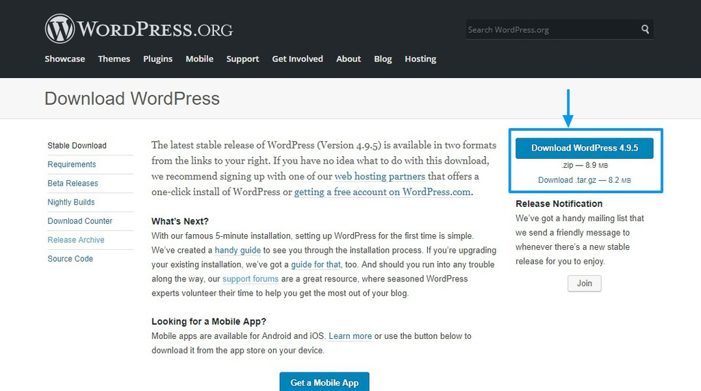 tải wordpress