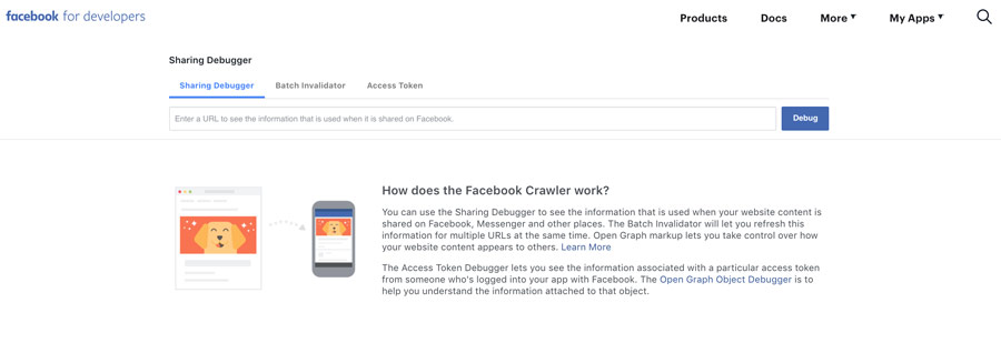 Ví dụ preview facebook debugger