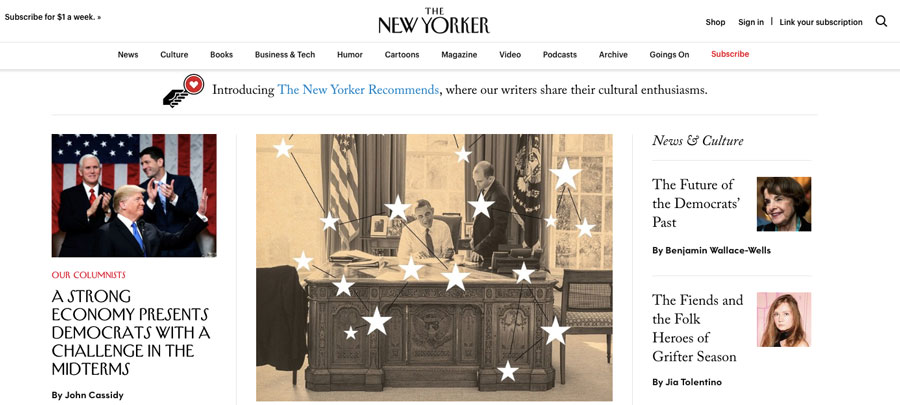 wordpress được dùng bởi the new yorker magazine