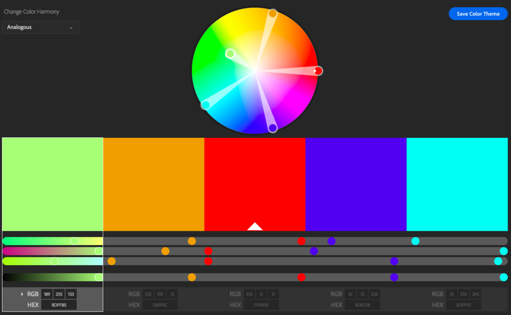 adobe color wheel
