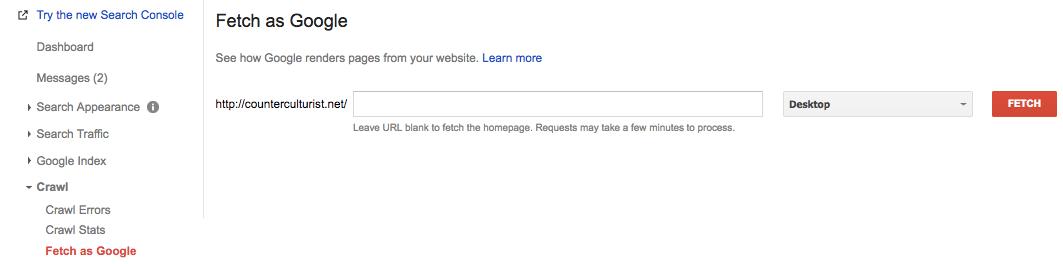 Buộc google index site của bạn