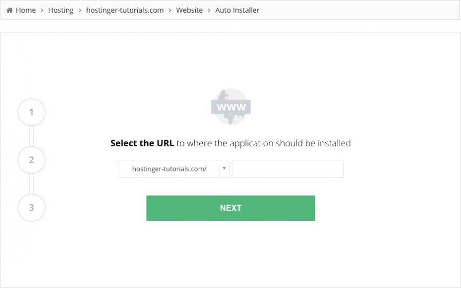 cài đặt WordPress trên Hostinger