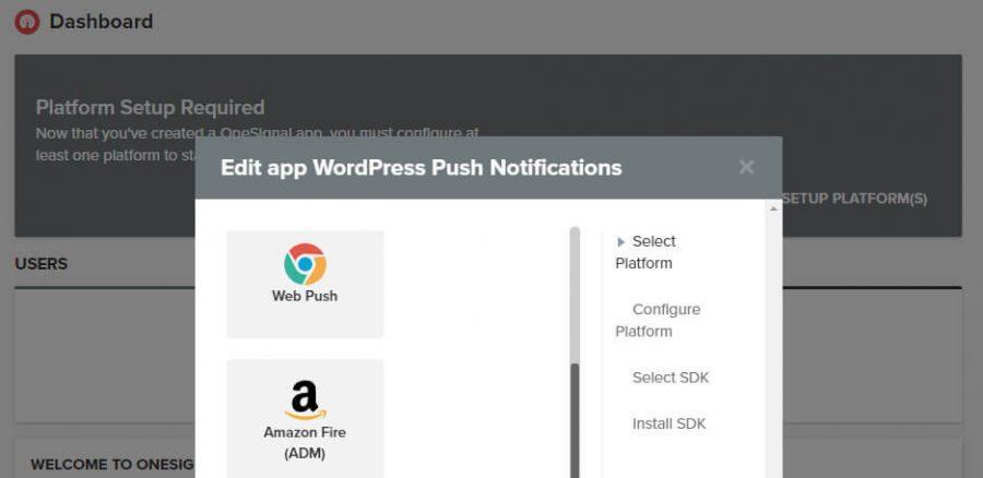 chọn web push