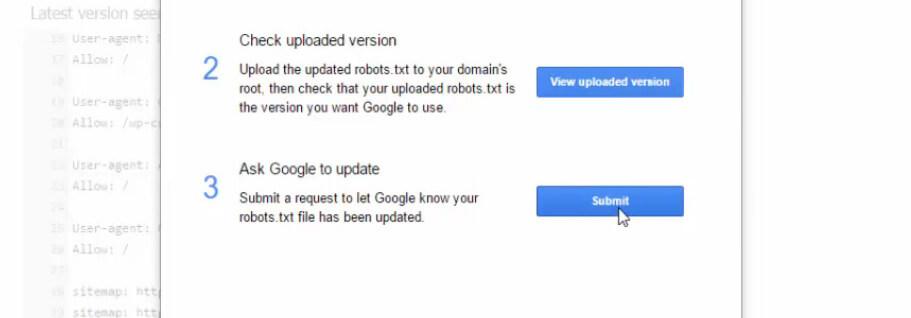 gửi code robots lên google