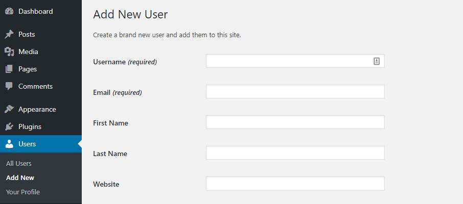thêm người dùng mới
