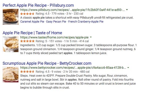 ví dụ schema markup apple pie