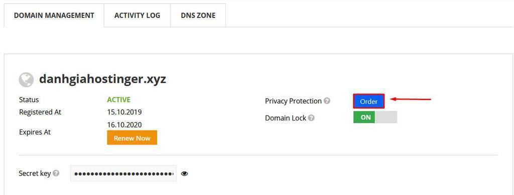 privacy protection - bảo vệ thông tin tên miền