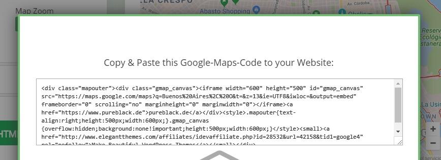 code nhúng của google maps