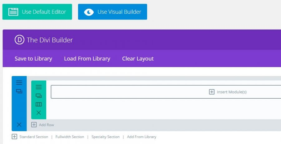 giao diện divi builder